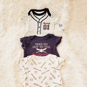 Other - 3 pack baseball onsies